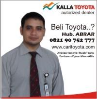 Untuk Informasi Pemesanan Toyota Baru Anda Silahkan Menghubungi Saya