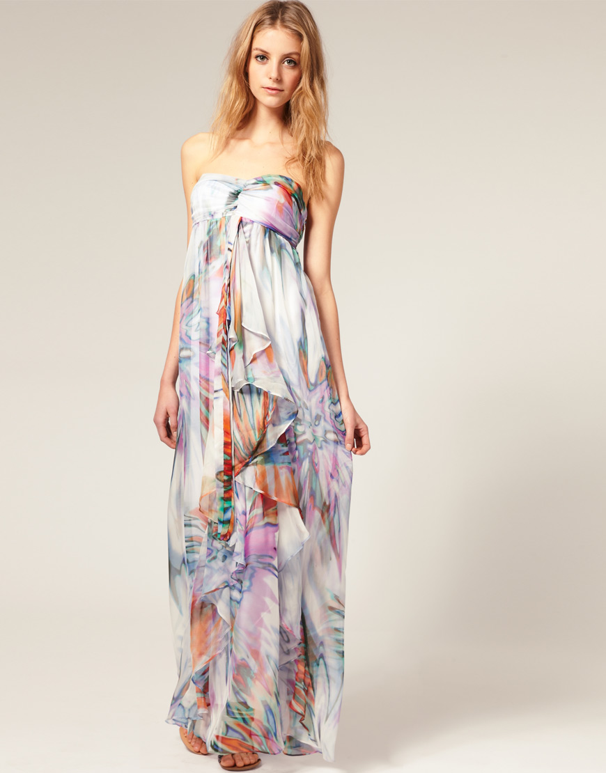 Gathered top maxi dress