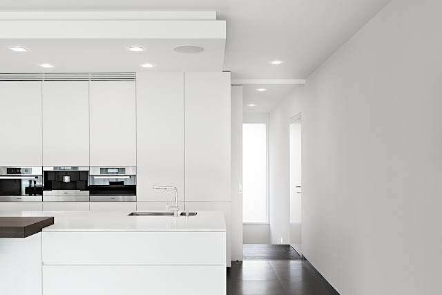 Minimal kitchen and hallway
