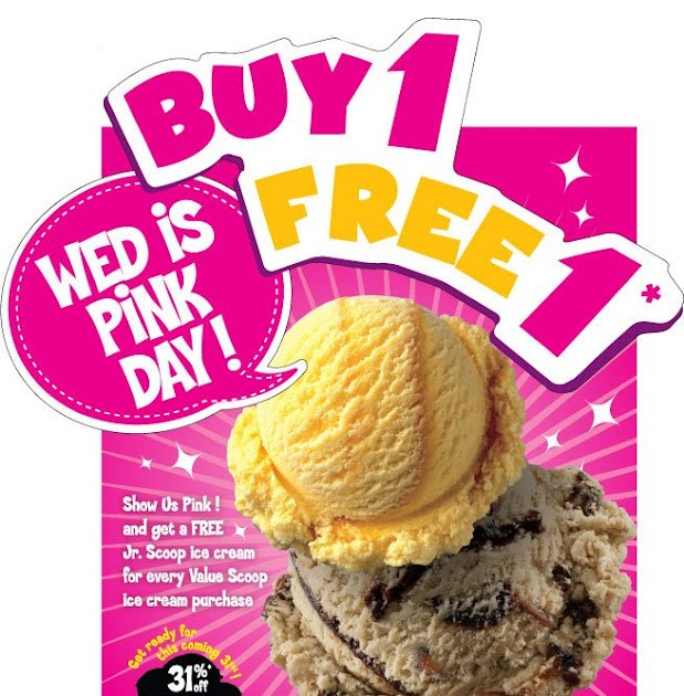Oct 24, · Baskin Robbins Ice-Cream has $1 Scoop Tuesdays! Every Tuesday from. 6pm to 10pm, a regular 4oz scoop is only $1 each. Great Treat for the family. About 20cents more than Mc Donald's and a lot tastier!.4/5(10).