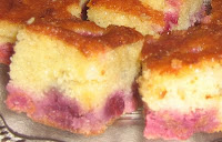 Jednostavan kolač s malinama
