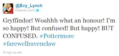 A atriz Evanna Lynch (Luna Lovegood) é selecionada para a Grifinória no Pottermore! | Ordem da Fênix Brasileira