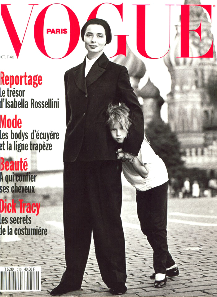 Isabella Rossellini & Elettra Rossellini Wiedemann photographed by Brigitte Lacombe for Vogue Paris 1990 / baby girl, mother & daughter fashion editorials / models & their children / via fashioned by love british fashion blog