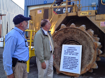Viewing Heavy Equipment at Landfill