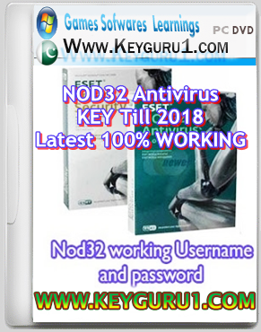 (Latest) Free ESET NOD32 Antivirus Activation User Password Valid Upto 2018