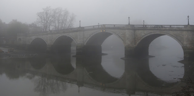 Richmond, Thames, river, water, London, England, reflection, bridge