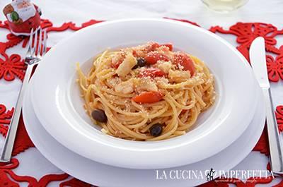 Pasta con baccalà e pomodorini - Piatto finale
