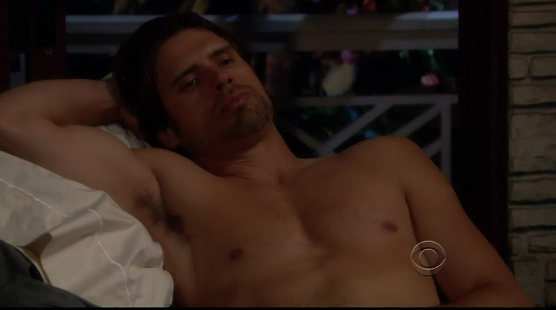 Joshua Morrow Shirtless on Young and the Restless 20110413