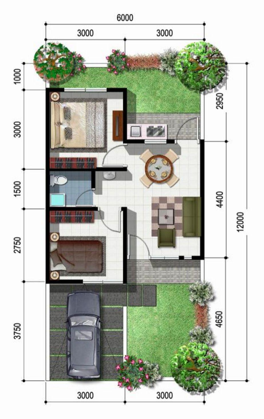desain denah rumah sederhana tapi elegan idaman