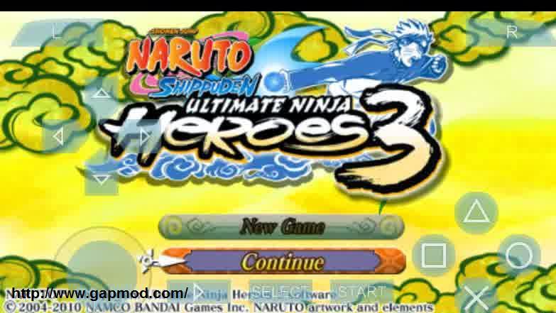Naruto Heroes 3 Psp