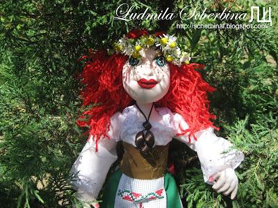 Текстильная шарнирная кукла
