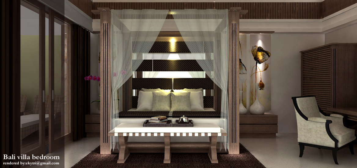 bali villa bedroom design idea - Bali Bedroom Design