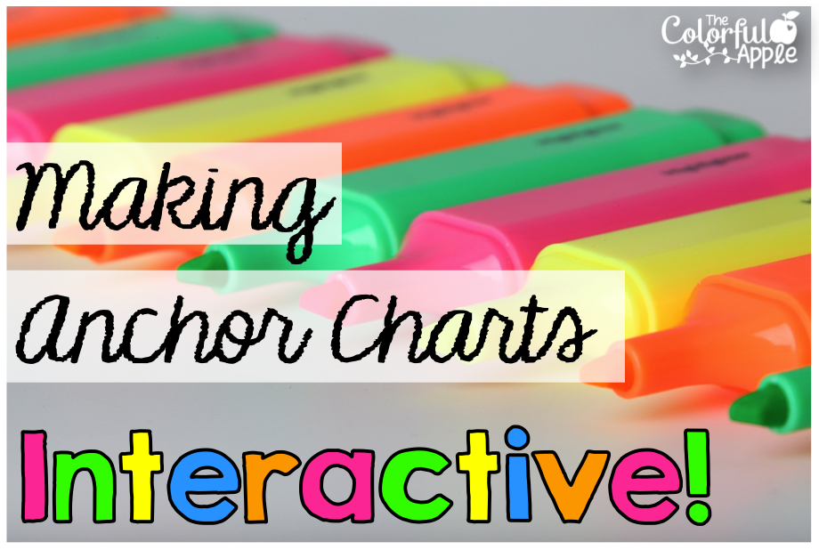 Making Anchor Charts Interactive! - The Colorful Apple
