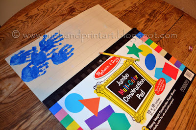 Handprint Flag 4th of July Craft for kids