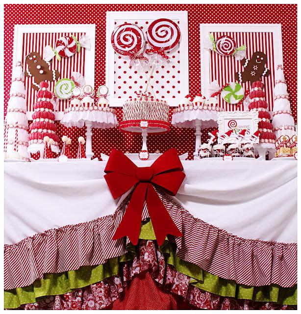 Amanda 39 s parties to go candy christmas dessert table for Desserts to take to a christmas party