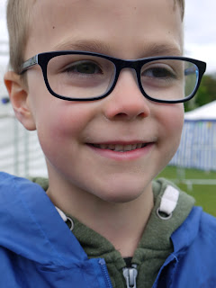 son, boy, glasses