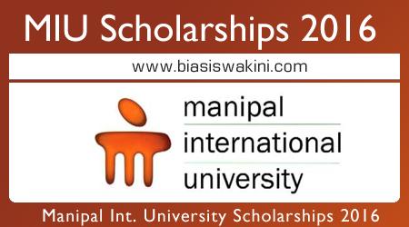 Manipal International University (MIU) Scholarships 2016