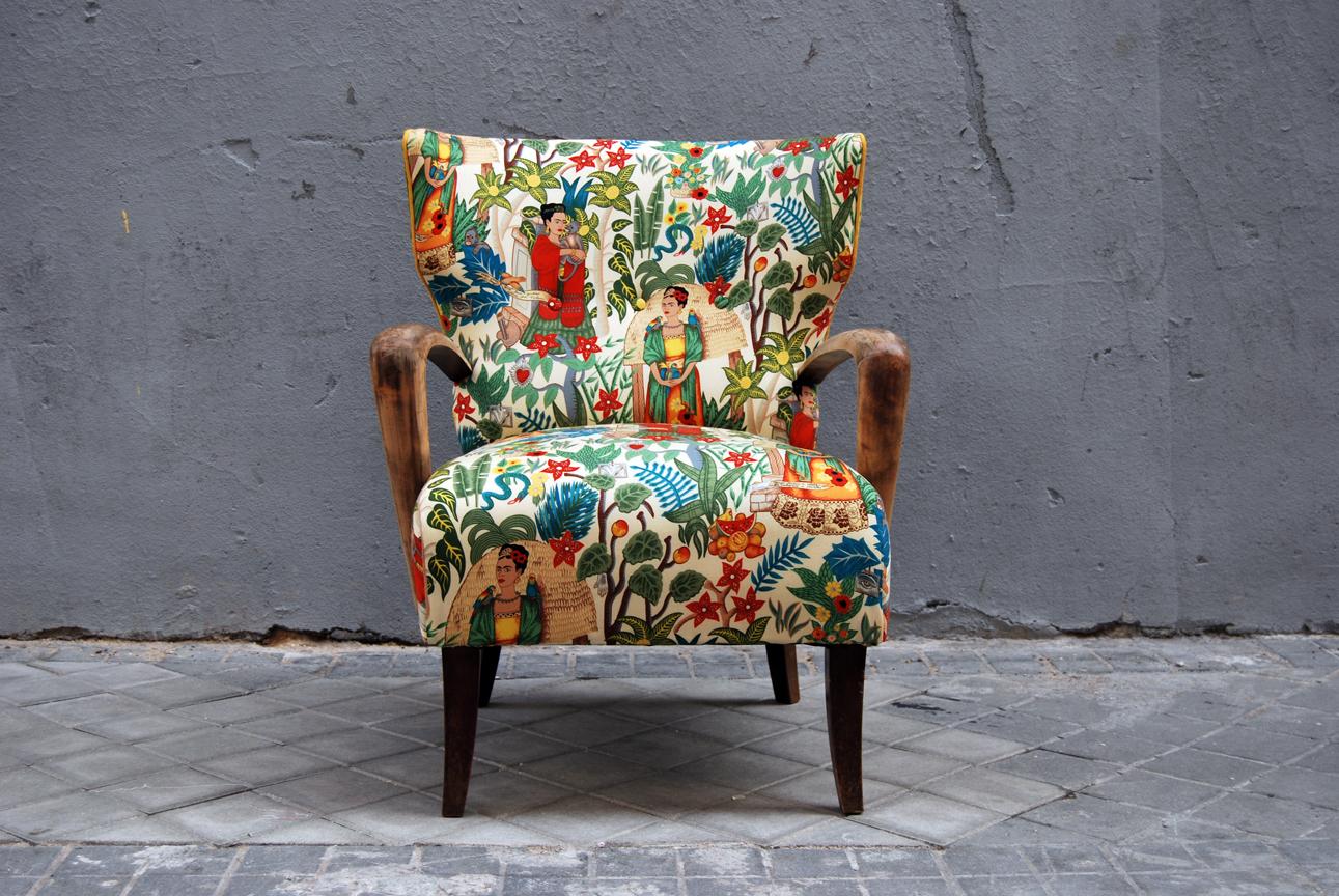Muebles Estilo Frida Kahlo - Butaca Orejera Tapizada Con Tela De Frida Kahlo La Tapicera[mjhdah]https://s-media-cache-ak0.pinimg.com/originals/08/9f/3f/089f3f46c23e2b4a25319876afc10108.jpg