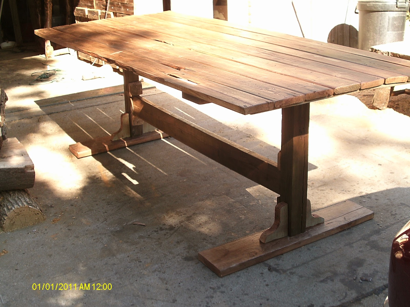 Handmade Rustic & Log Furniture Rustic Reclaime Barnwood Dining Table