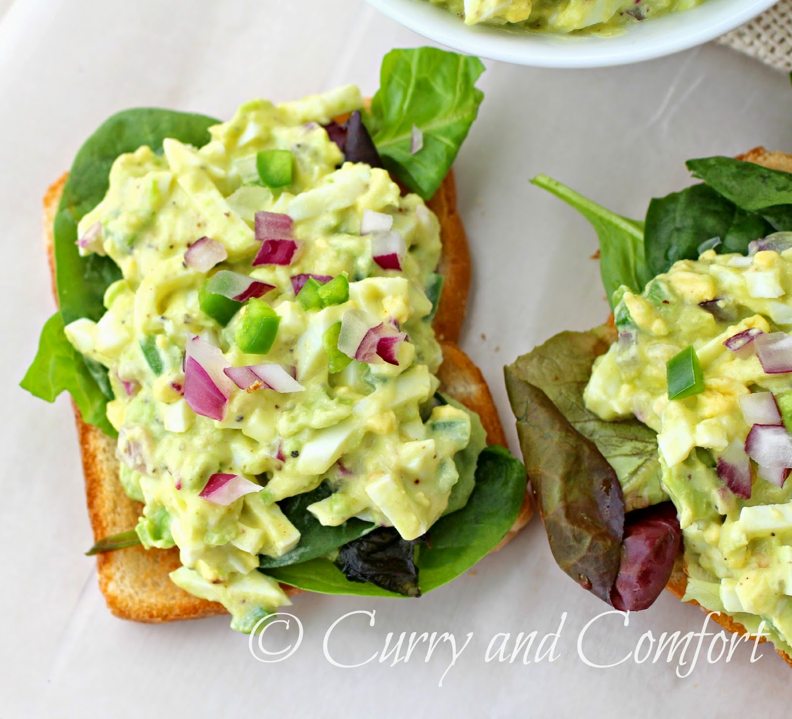 Avocado Egg Salad Recipe — Dishmaps
