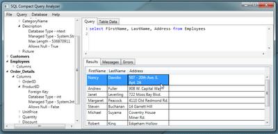 Analisis Files  SDF dengan Database Query Analyzer SQL Compact