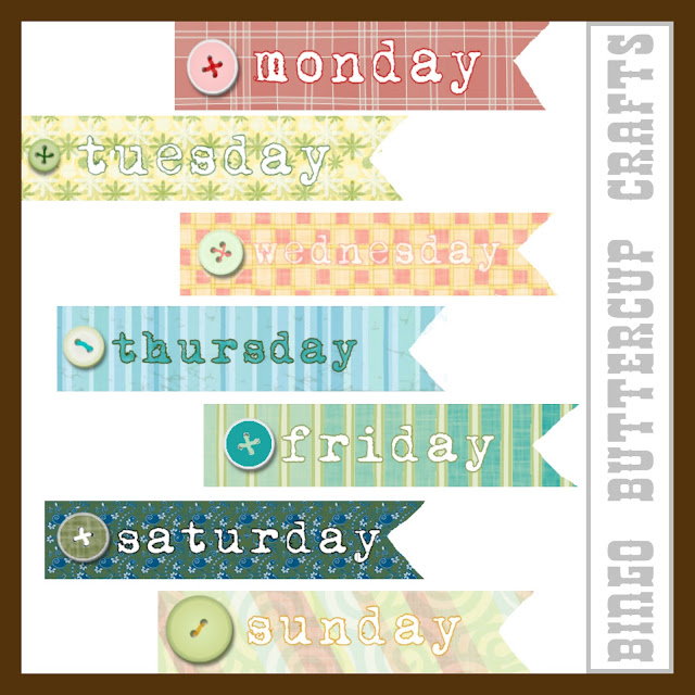 Cute Days of the Week Printable by Bingo Buttercup