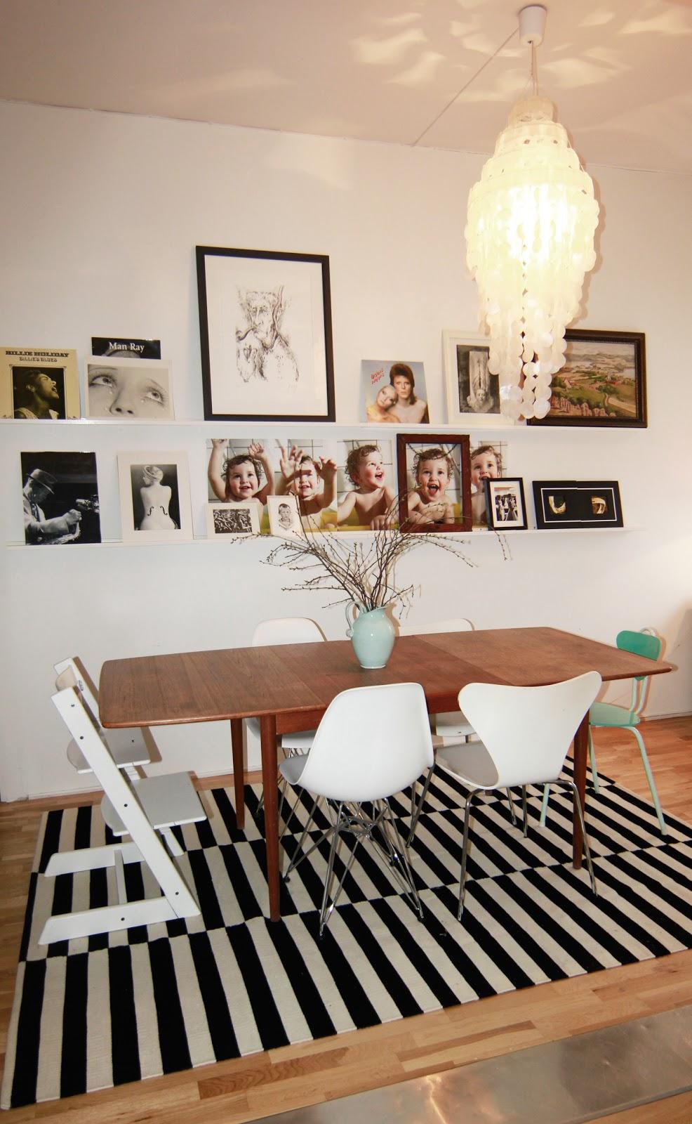 stort spisebord hvitt