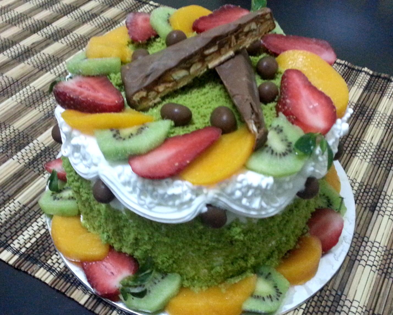 Vanilla Pastry: Ice Cream + Green Tea Cake