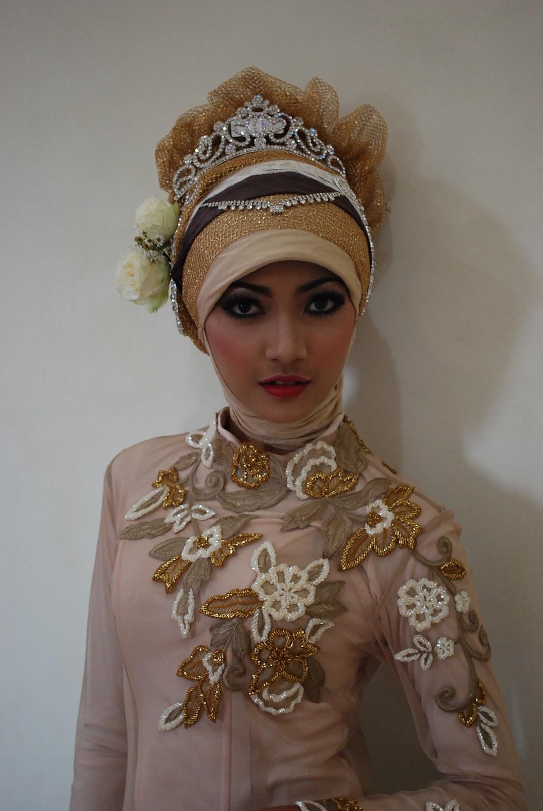 ide kreasi jilbab pengantin acara ijab