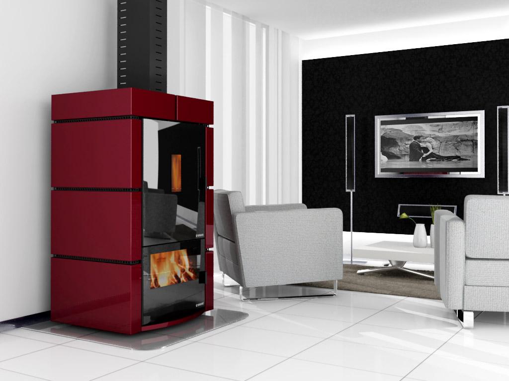 decorfogostore salamandras a pellets e lenha water line. Black Bedroom Furniture Sets. Home Design Ideas