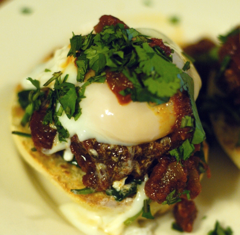 Stitches and SNPs: Moroccan Merguez Ragout with Poached Eggs