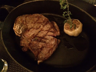 Steak dinner in London
