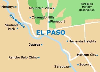 El Paso Texas Maps