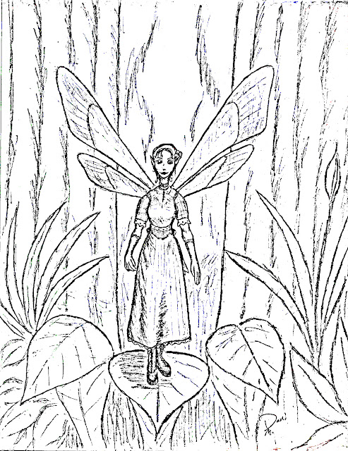 Modest Fairy Free Printable Coloring Page