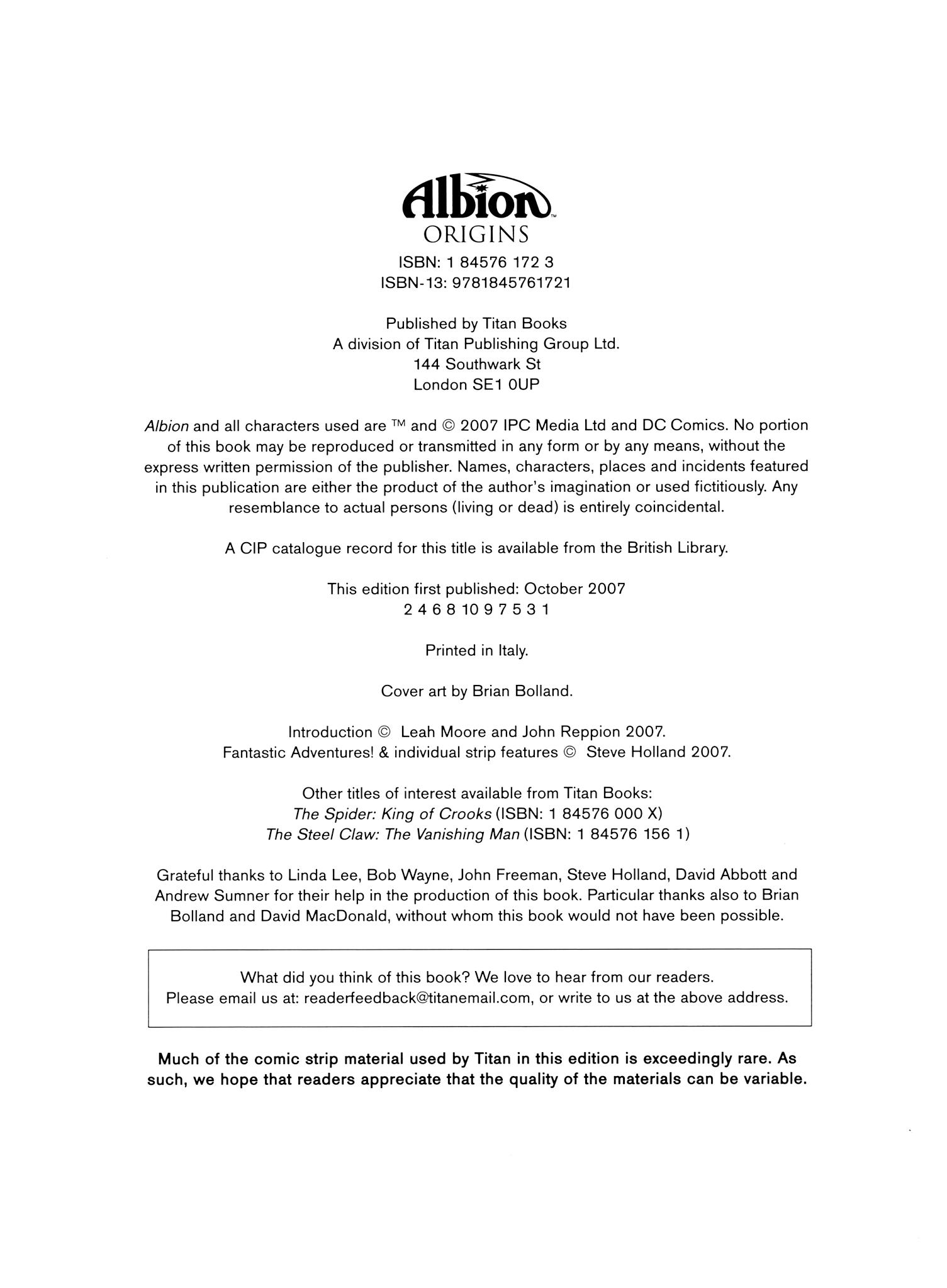 Albion Origins TPB Page 4
