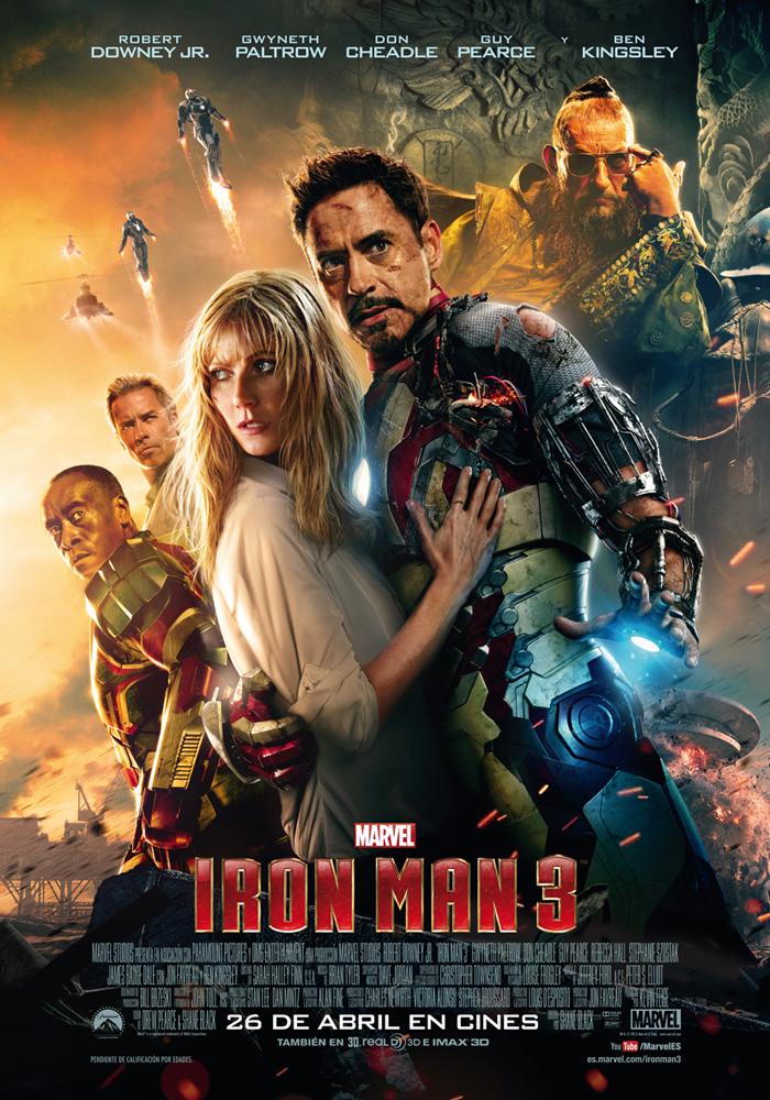 Póster con todos los personajes de Iron Man 3