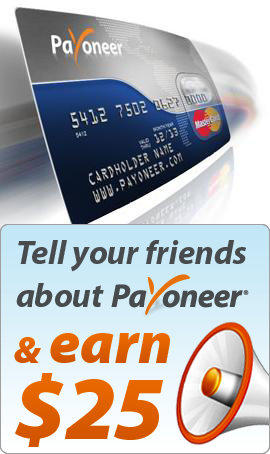 Payoneer Free Mastercard in The World