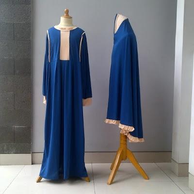 model baju gamis muslimah syar'i bahan bagus 2015