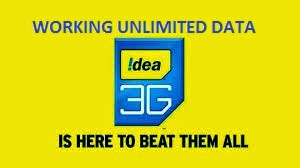 http://androidhackings.blogspot.in/2014/06/idea-3g-udp-trick-unlimited-usage.html