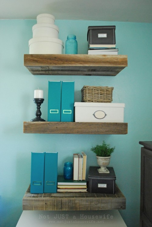 DIY Reclaimed Wood Floating Shelves | Luxury Lifestyle, Design
