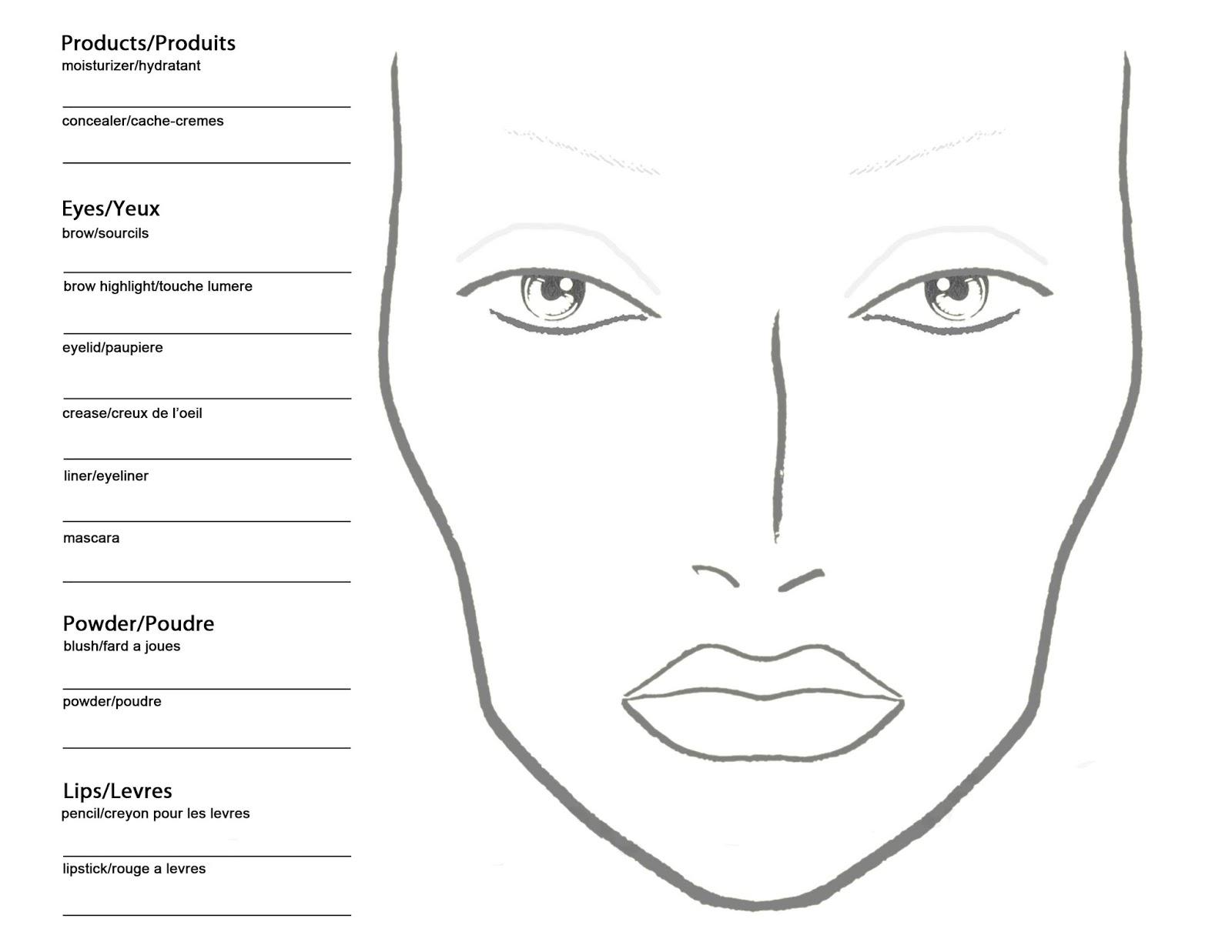 Bekannt Becoming a Makeup Artist: Free Blank MAC Makeup Chart XF48
