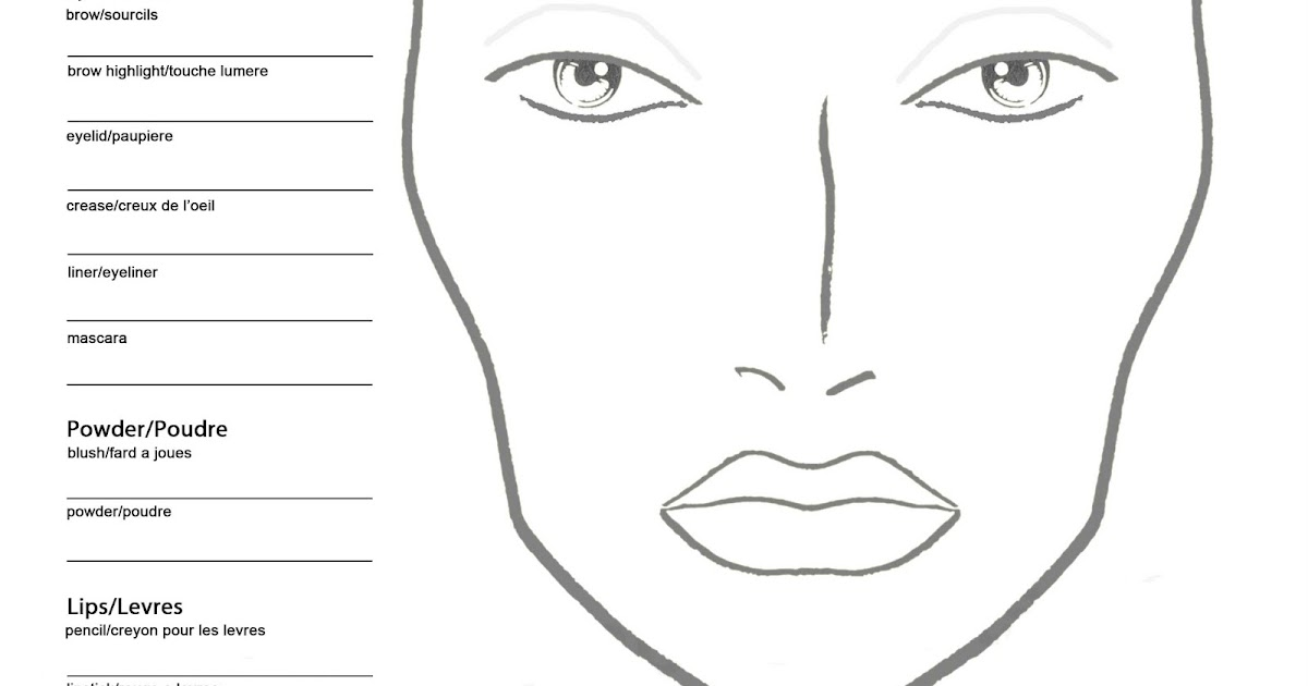 becoming a makeup artist  free blank mac makeup chart