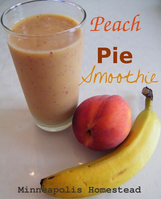 Peach Pie Smoothie (vegan, Paleo)