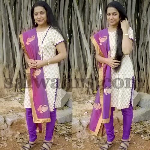 Suhasini Maniratnam in Polka Dots Churidar
