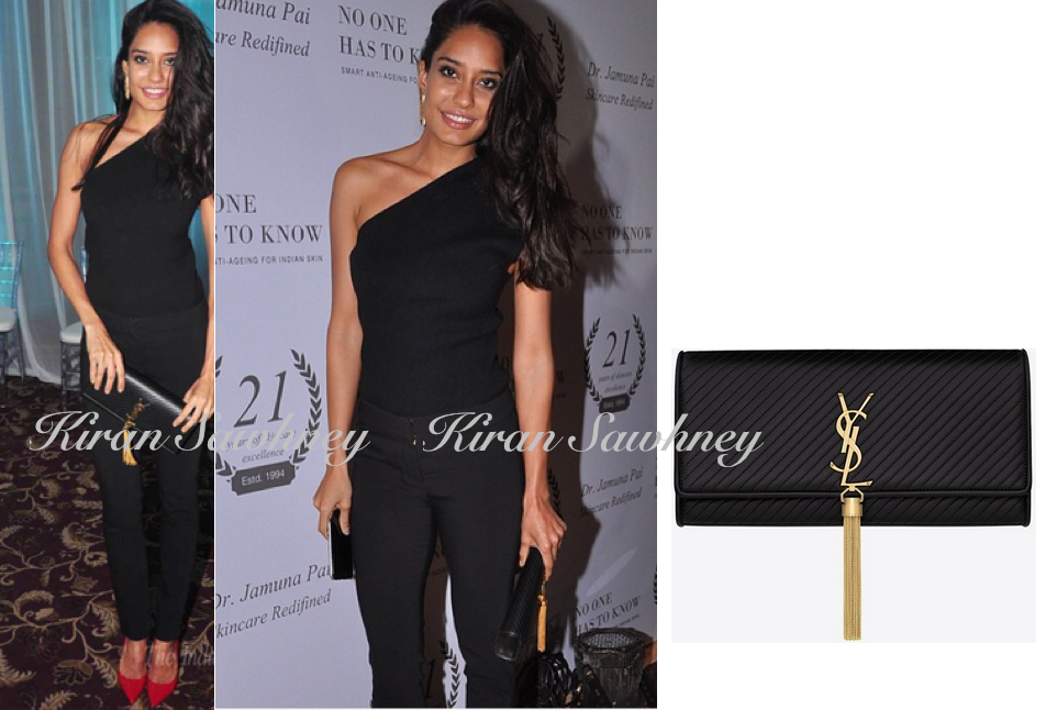 Lisa Haydon with Saint Laurent