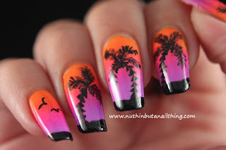 Palm tree nail art
