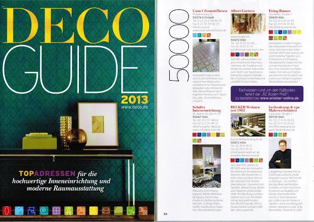 Casa:1 im Deco Guide 2013