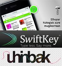 Swiftkey, Uhinbak y diccionarios Elhuyar en Euskera