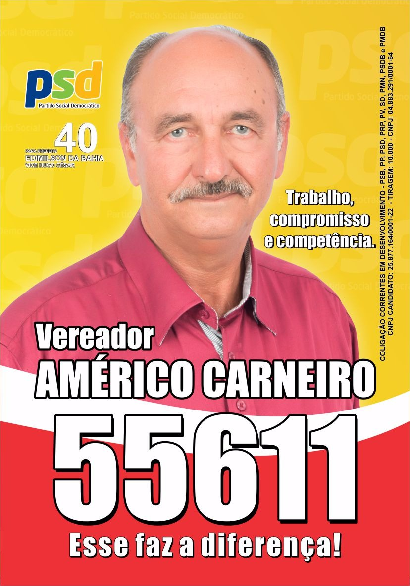 Vereador Américo Carneiro, trabalho, competência e responsabilidade
