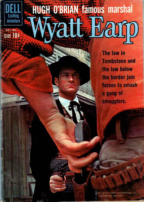 Wyatt Earp v2 #13 - dell western 1960s silver age comic book cover art